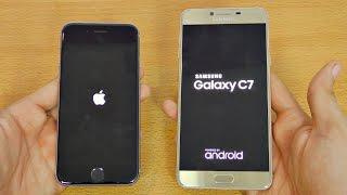 Samsung Galaxy C7 vs iPhone 6S - Speed Test! (4K)