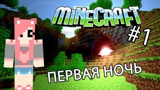 Minecraft - ПЕРВАЯ НОЧЬ (Серия 1)
