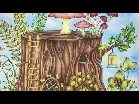 ENCHANTED FOREST by Johanna Basford - prismacolor pencils - color along - part 2