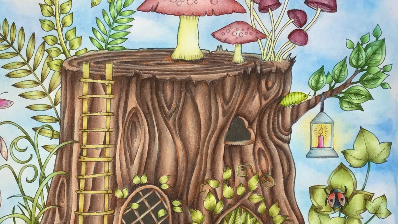 Enchanted Forest By Johanna Basford Prismacolor Pencils