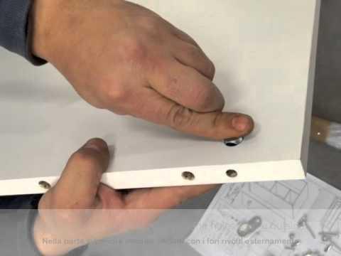 Mondo Convenienza Armadio 2 Ante Cameretta.Instructions Mounting Wardrobe Istruzioni Montaggio Armadio
