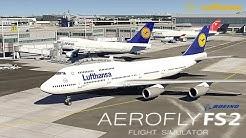 AEROFLY 2 FLUGSIMULATOR ✈️ Boeing 747-400 Lufthansa I Start in New York [Deutsch/HD]