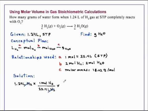Using Molar Volume in Gas Stoichiometric Calculations ...