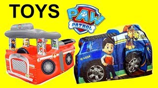 GIANT Paw Patrol tents surprises MARSHALL Fire Truck Chase Tent FULL OF TOYS thumbnail