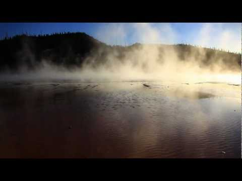 Yellowstone steam off of Grand Prismatic Spring in Midway Geyser Basin