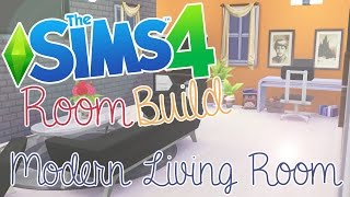 The Sims 4: Room Build - Modern Living Room