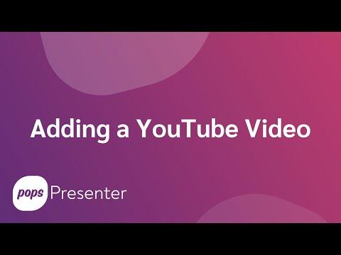 How do I add a YouTube video as a visual aid?