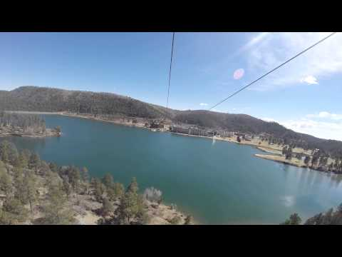 Zip-line at Inn of the Mountain Gods, Ruidoso, NM.