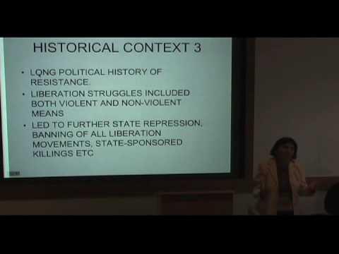 International Studies Symposium Series - Rashida Manjoo Part 2