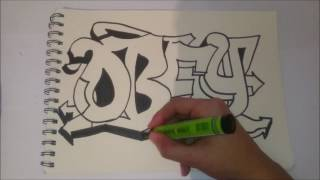 how to draw graffiti OBEY