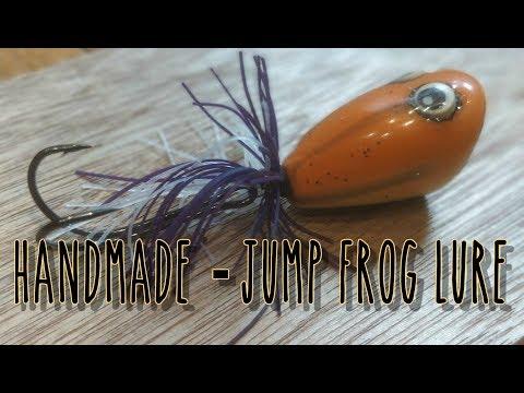 DIY Making a Jump Frog Lure in Wood  Handmade ep. 113