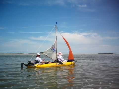 voile canoe gonflable