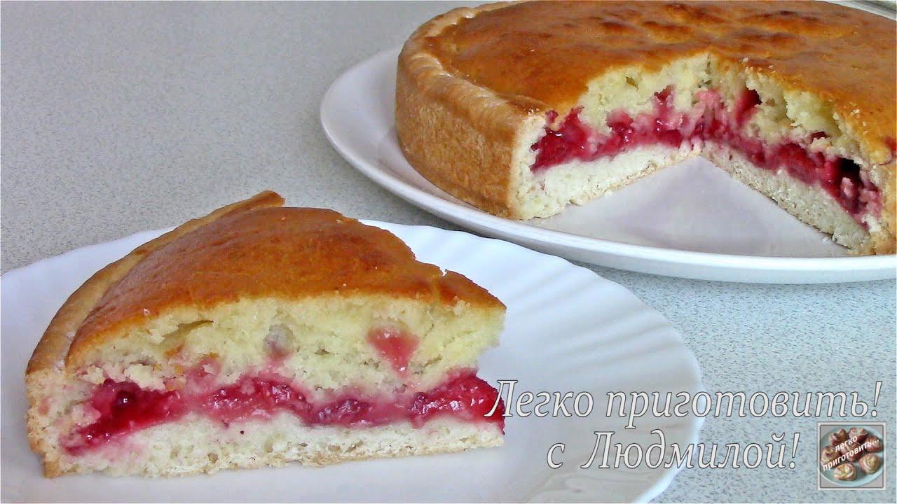 Из 2 видов теста Пирог с клубникой Без яиц Без молочных продуктов Легко приготовить!
