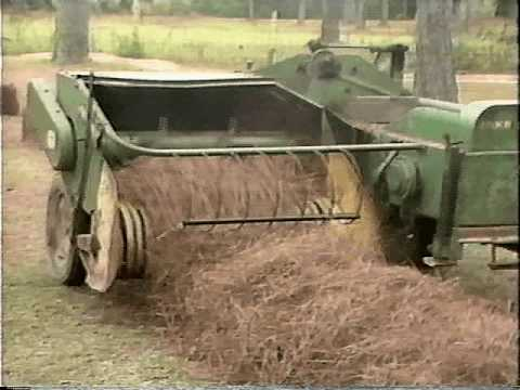 In Action: Texas Pine Straw - Baling