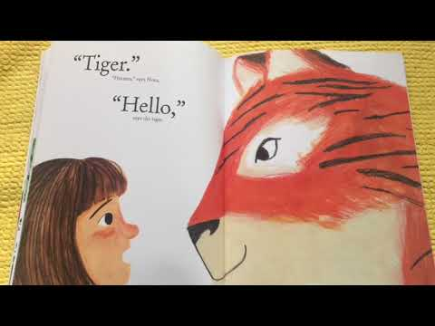 Storytime for kids There's a Tiger in the Garden by Lizzy Stewart