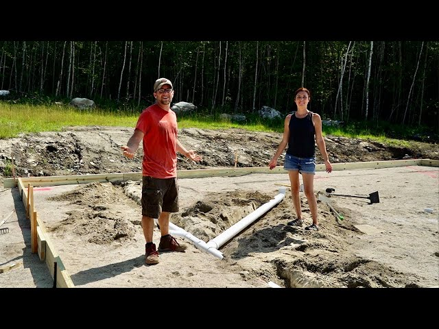 Have to Get this RIGHT the 1st Time! Installing In Ground Plumbing for Our OFF-GRID Tiny HOUSE BUILD