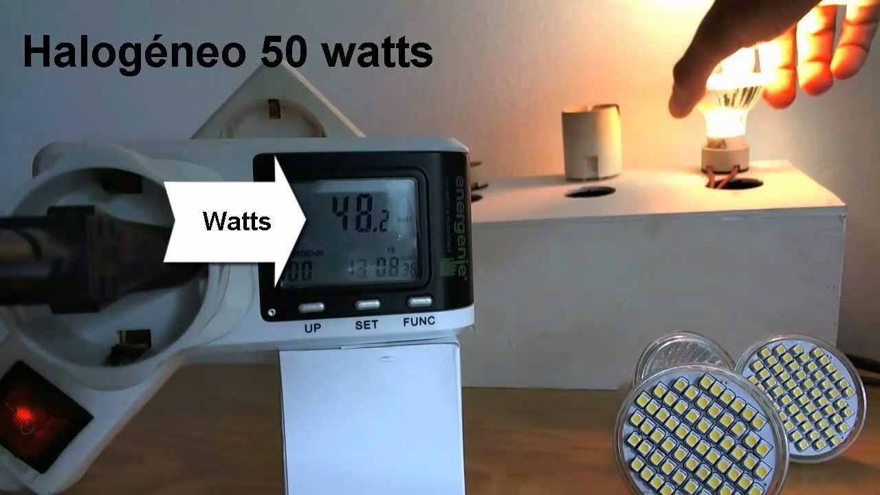 Lâmpada led vs halogéneo 50 watts poupar mais de 20u20ac ano por