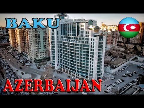 Azerbaijan, Baku, Hotel Quafqaz City -To the Caspian Sea ep1