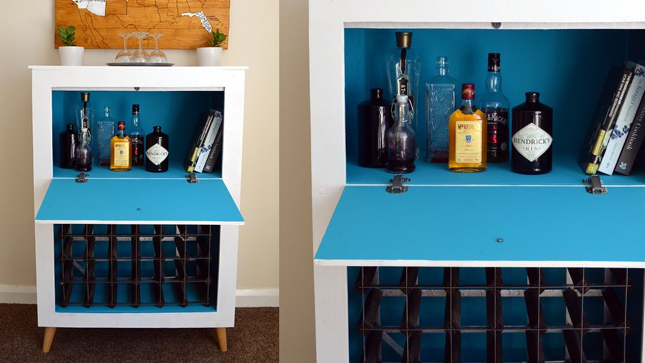 How to build a Mid-century Modern Wine & Liquor Cabinet ...
