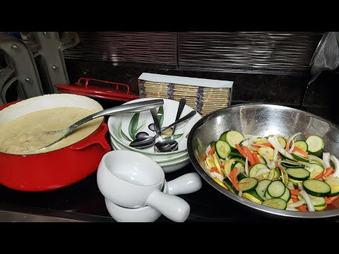 Creamy Potato & ground Turkey soup and Salad!