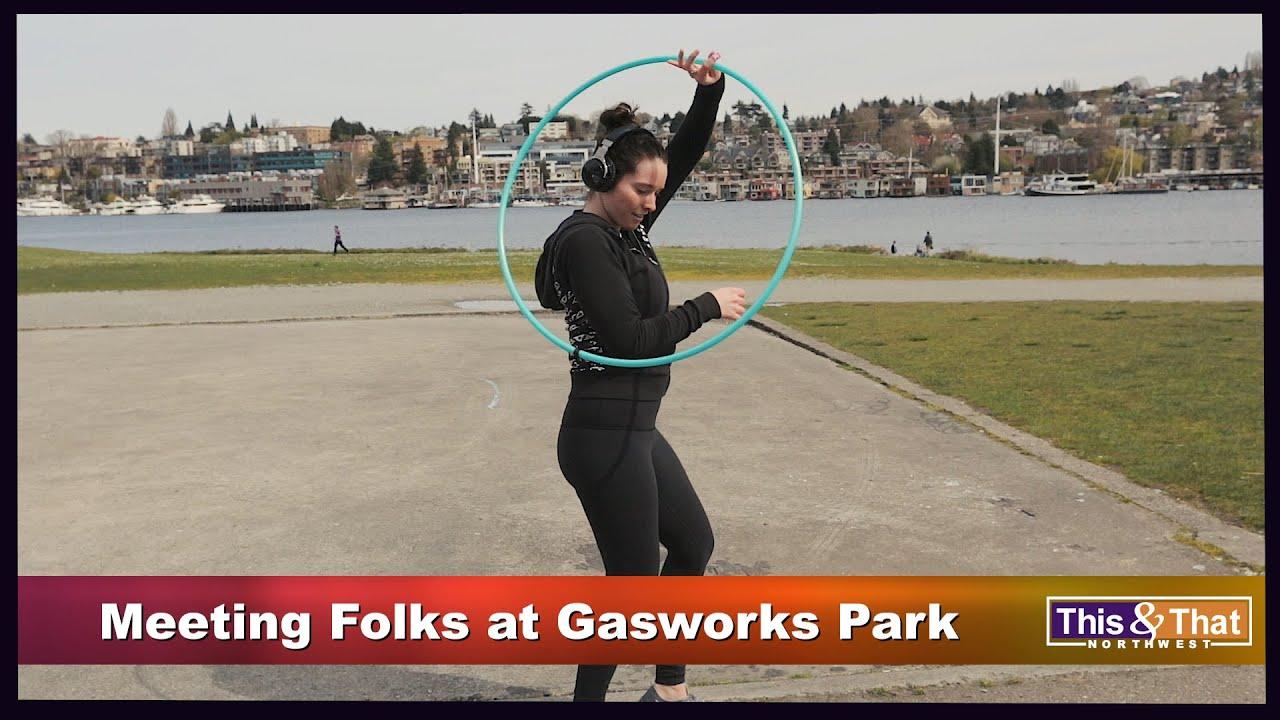 Meeting people at Gasworks Park