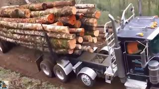 Extreme Trucker !! Best Logging Truck Drivers Skill With Dangerous Extreme Roads