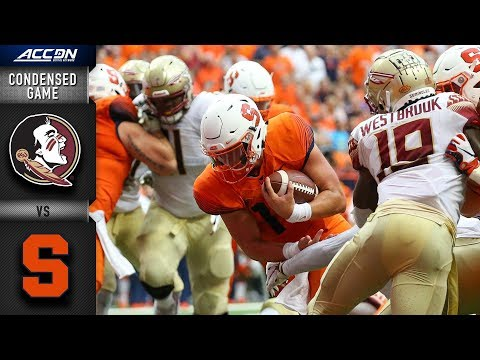 Florida State vs. Syracuse Condensed Game | 2018 ACC Football