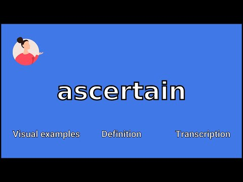 ASCERTAIN - Meaning and Pronunciation