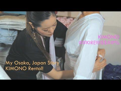 Kimono Rental Experience in Osaka downtown in Japan!