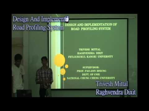 Road profiling Part 1- Taiwan (Summer Internship Project)