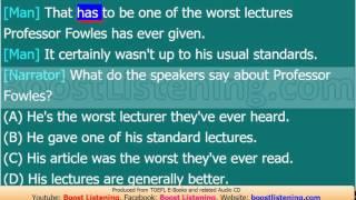 Boost Listening - TOEFL Listening Lesson 238