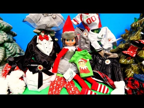 Elf On The Shelf Fashion Show 13 Different Outfits Doll Clothes Toy Unboxing Review