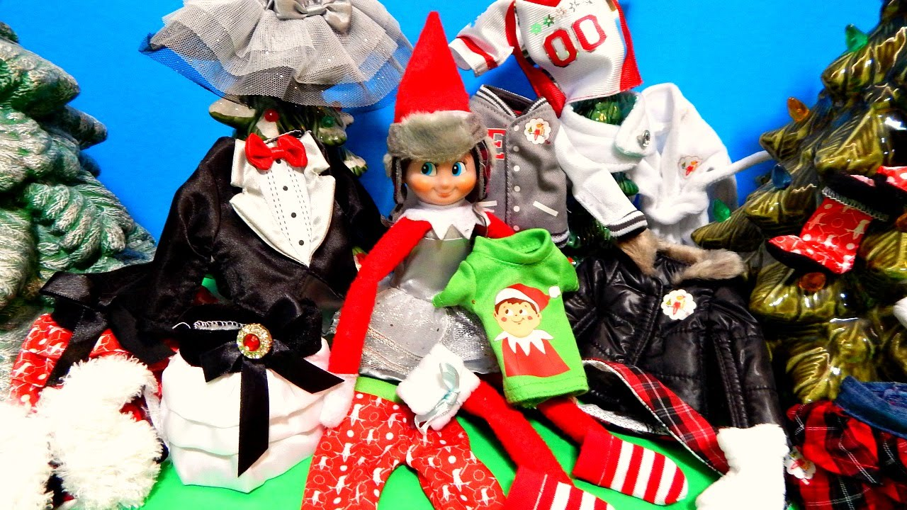 elf on the shelf fashion show 13 different outfits doll clothes toy