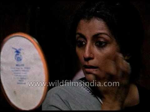 Actress Aparna Sen shoots for a Bengali film