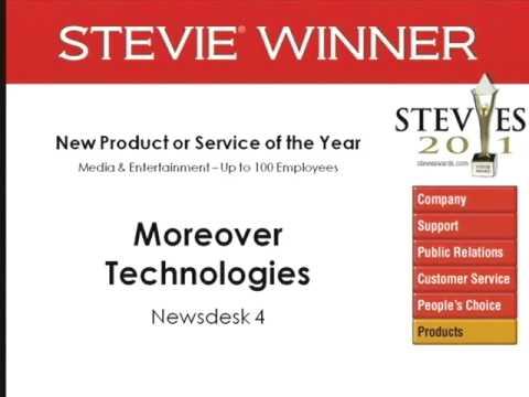 Moreover Technologies wins a 2011 Stevie Award