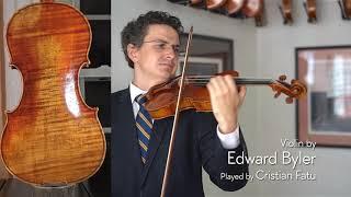Edward Byler 2019 violin / Cristian Fatu / at the Metzler Violin Shop