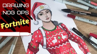 Let's Draw FORTNITE - Nog Ops skin - Speed Drawing