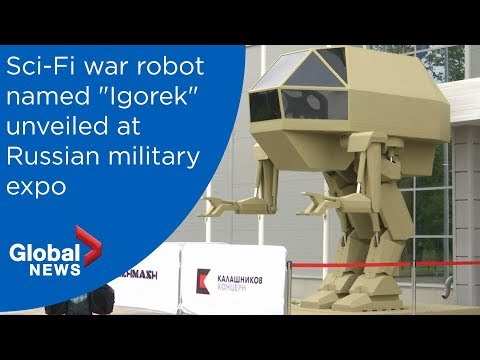 Kalashnikov military robot unveiled at Russian arms expo