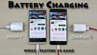 ZTE Axon 7 vs OnePlus 3 - Battery Charging Test Comparision Review! (while playing a game)