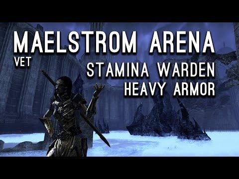 Maelstrom Arena Stamina Warden Heavy Armor Build - Clockwork City Elder Scrolls Online ESO