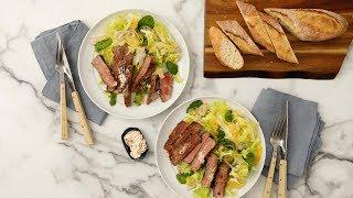 Skillet Steak with Pink-Peppercorn Butter- Martha Stewart