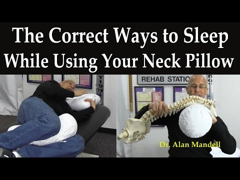 The Correct Ways To Sleep While Using Your Neck Pillow - Dr Mandell