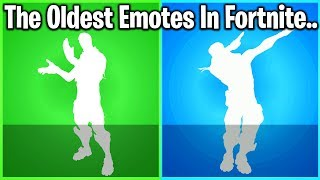 TOP 10 OLDEST EMOTES IN FORTNITE HISTORY (99% weren't there for #2)