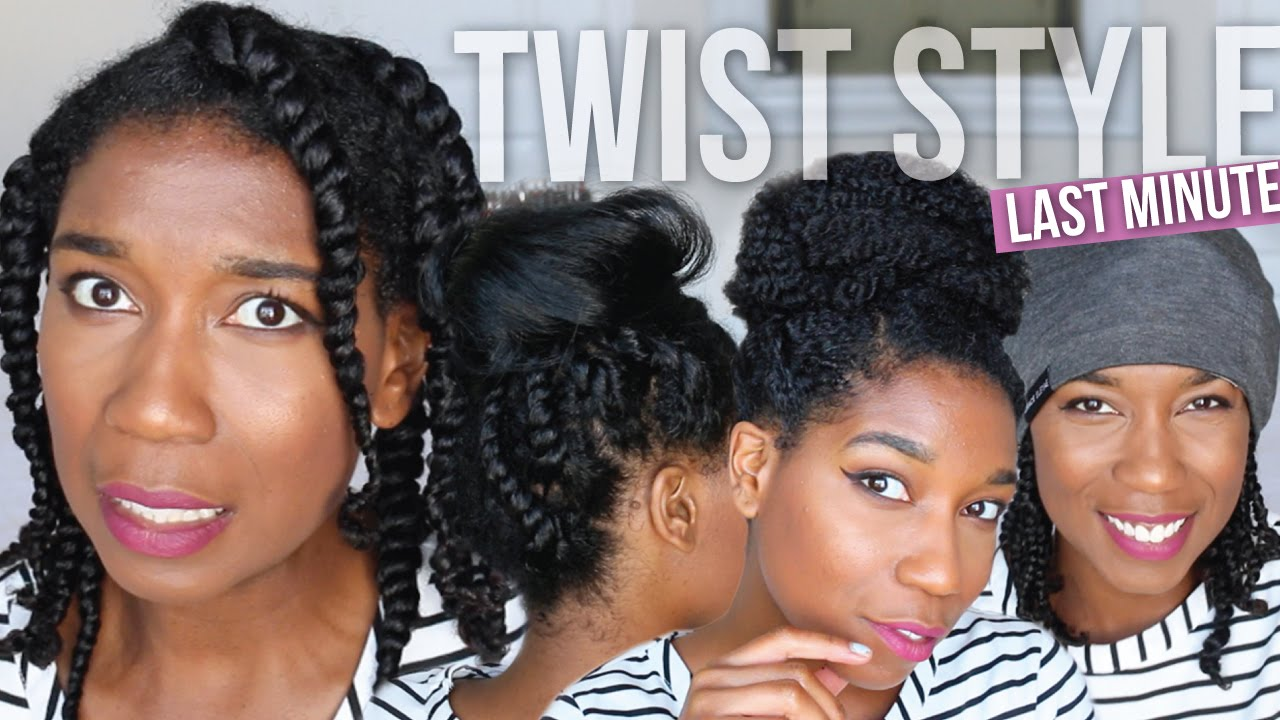 Last Minute Fix Styling Bedtime Two Strand Twists Easy