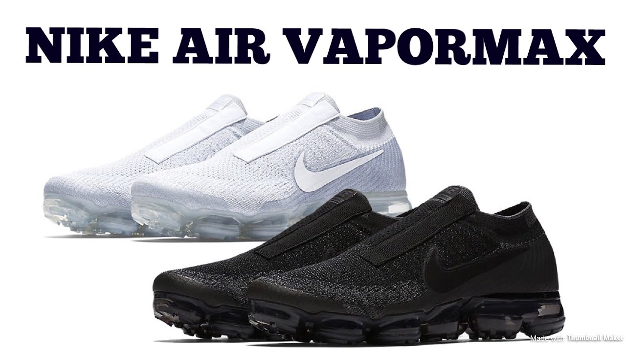 6443efd4474c NIKE AIR VAPORMAX LACELESS BLACK NIGHT AND PURE PLATINUM QUICK REVIEW AND  RELEASE DETAILS!