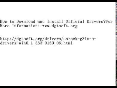 ASRock G31M-S Drivers for Windows 10 (32bit|64 bit) 6 56