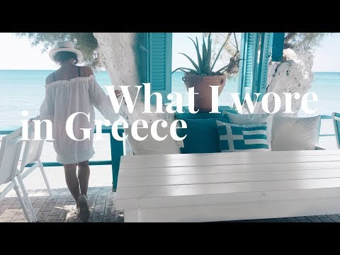 What I Wore in Greece | Travel Outfit Ideas | Slow Fashion