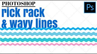 Create Rick Rack & Wavy Lines in Photoshop