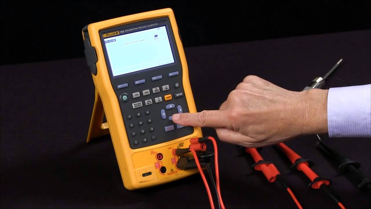 how to rtd measure and source on the fluke 754 documenting process calibrator youtube [ 1280 x 720 Pixel ]