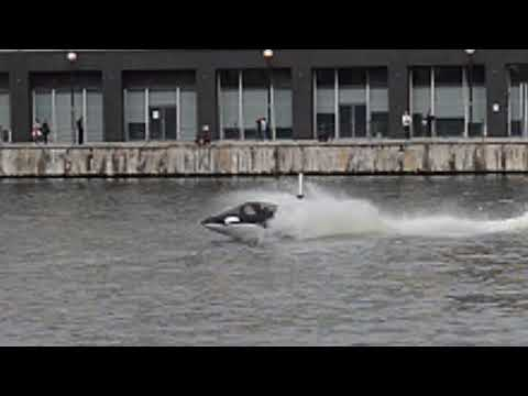 Trying Out the Seabreacher at London's Royal Victoria Docks